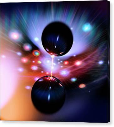 Black Hole Strangeness Canvas Print by Richard Kail