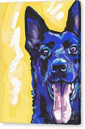 German Shepherd Canvas Print - Black Is Black by Lea S