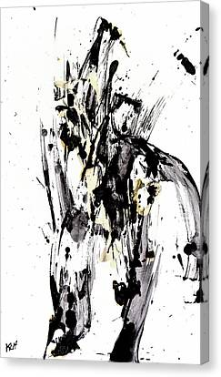 Black Is Not White White Is Not Black Canvas Print by Kris Haas