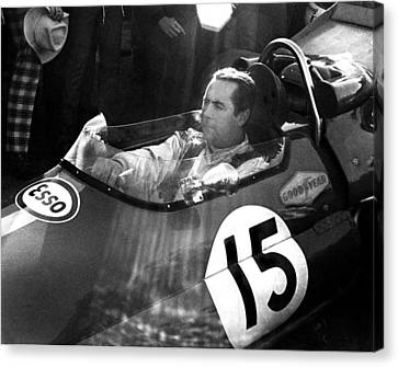 Black Jack Brabham Canvas Print by Mike Flynn