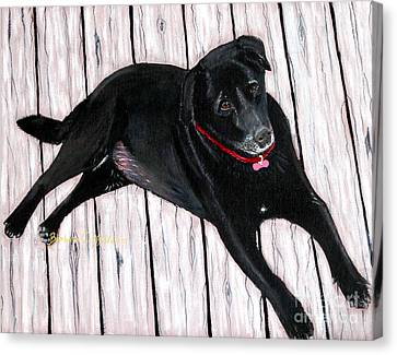 Black Labrador  Canvas Print by Barbara Griffin