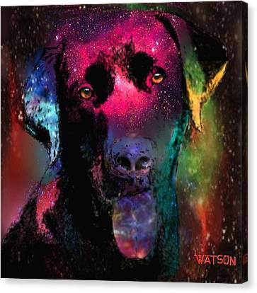 Black Labrador Dog Canvas Print by Marlene Watson