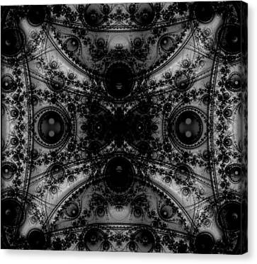 Cryptic Canvas Print - Black Lace by Ester  Rogers