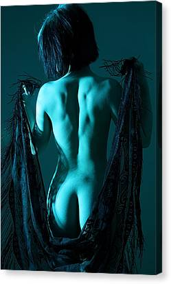 Black Lace Canvas Print by Joe Kozlowski