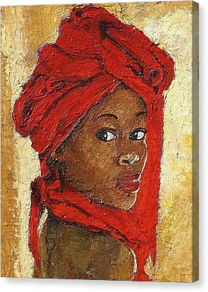 Black Lady No. 12 Canvas Print by Janet Ashworth