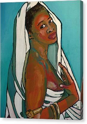 Black Lady No. 5 Canvas Print by Janet Ashworth