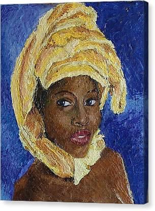 Black Lady No. 6 Canvas Print by Janet Ashworth