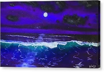 Black Light Night Canvas Print by Gary Bolinky
