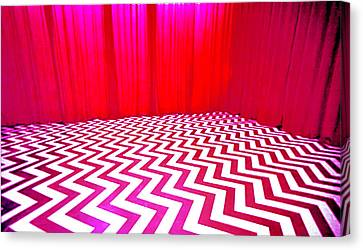 Black Lodge Magenta Canvas Print by Luis Ludzska
