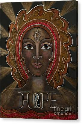 Black Madonna - Hope Canvas Print