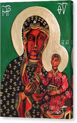 Black Madonna Of Czestochowa Icon IIi Canvas Print by Ryszard Sleczka