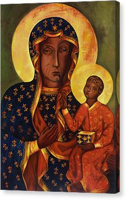 The Black Madonna Of Czestochowa Canvas Print by Irek Szelag
