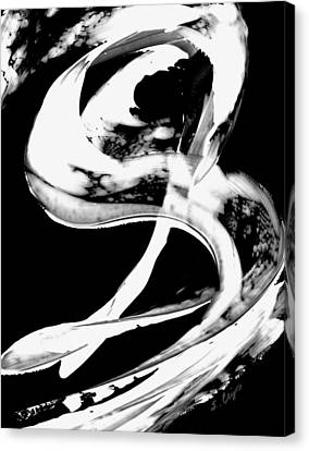 Canvas Print featuring the painting Black Magic 307 Inverted by Sharon Cummings