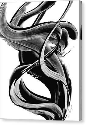 Black Magic 314 By Sharon Cummings Canvas Print by Sharon Cummings