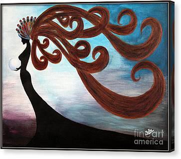 Black Magic Woman Canvas Print