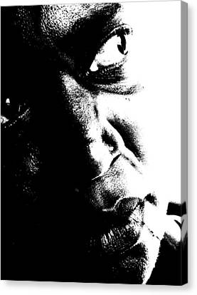 Canvas Print featuring the photograph Black Miracle Portrait 12 by Cleaster Cotton