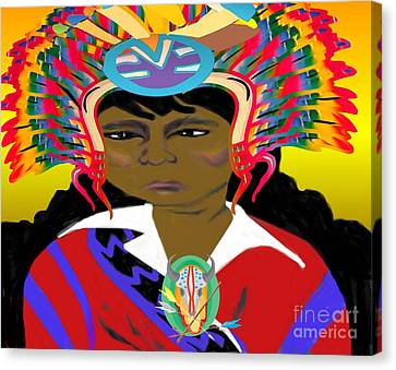 Black Native American Indian Canvas Print