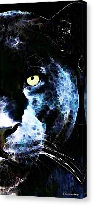 Black Panther Art - After Midnight Canvas Print by Sharon Cummings