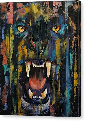 Goth Canvas Print - Black Panther by Michael Creese