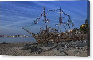 Black Pearl Pirate Ship Canvas Print by Paul Madden