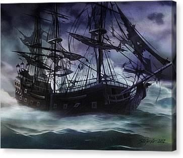 Black Pearl - Troubles Again Canvas Print