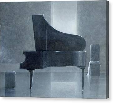 Black Piano 2004 Canvas Print by Lincoln Seligman