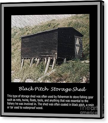 Black Pitch Storage Shed Canvas Print by Barbara Griffin