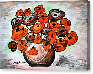 Black Poppies Canvas Print by Ramona Matei
