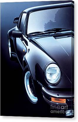 Black Porsche Turbo Canvas Print