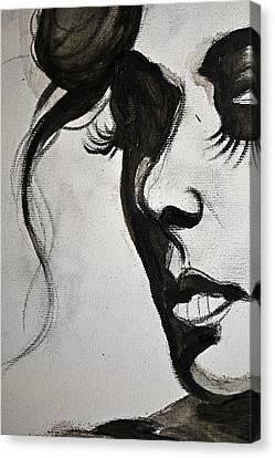 Black Portrait 16 Canvas Print