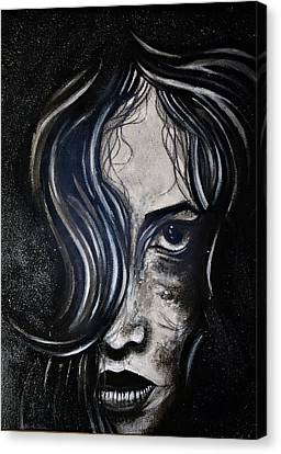 Canvas Print featuring the painting Black Portrait 5 by Sandro Ramani