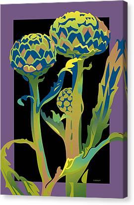 Black-purple Artichoke Canvas Print