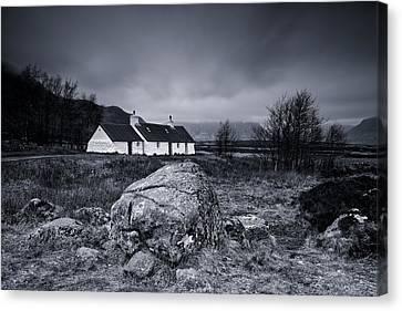 Black Rock Cottage - Glencoe Canvas Print by Stephen Taylor