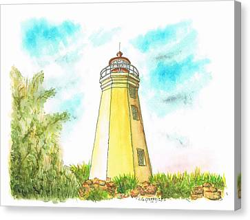 Black Rock Harbor Lighthouse - Connecticut Canvas Print by Carlos G Groppa