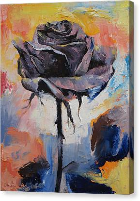 Black Rose Canvas Print by Michael Creese