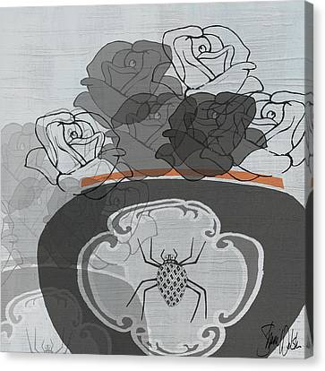 Black Roses I Canvas Print by Shanni Welsh