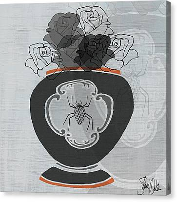 Black Roses II Canvas Print by Shanni Welsh