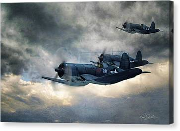 Black Sheep Patrol Canvas Print by Peter Chilelli