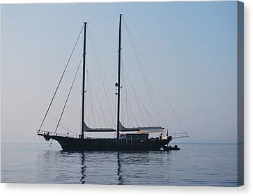 Black Ship 1 Canvas Print by George Katechis