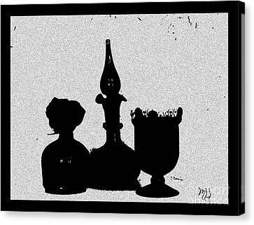Black Sillouette Canvas Print