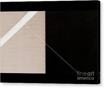 Black Slash Beige Canvas Print by A K Dayton