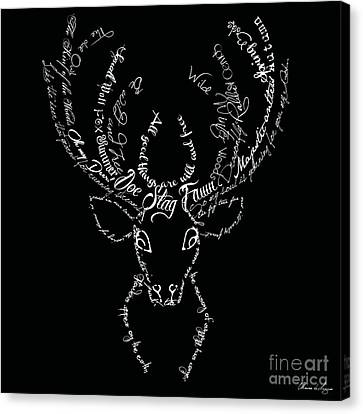 Black Stag Canvas Print
