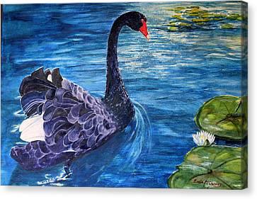 Canvas Print - Black Swan by Enola McClincey