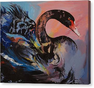 Black Swan Canvas Print by Michael Creese