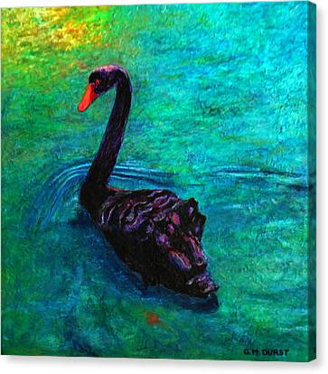 Black Swan Canvas Print by Michael Durst