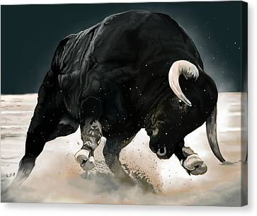Black Thunder Canvas Print by Brien Miller