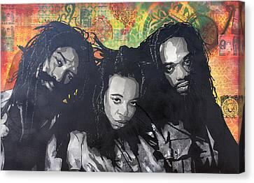 Black Uhuru Canvas Print by Josh Cardinali