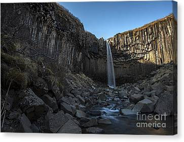 Black Waterfall Canvas Print