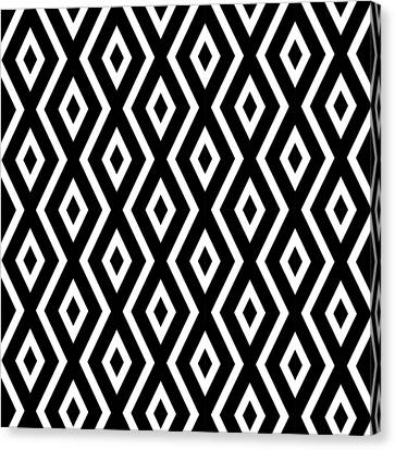 Black And White Pattern Canvas Print by Christina Rollo