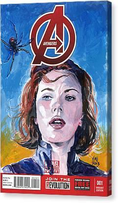 Black Widow Avengers Canvas Print by Ken Meyer jr